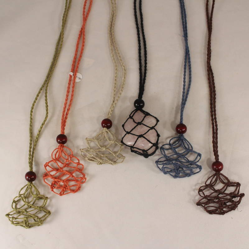Macrame Pouch Necklace-Extra Large