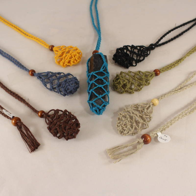 Macrame Pouch Necklace-Point