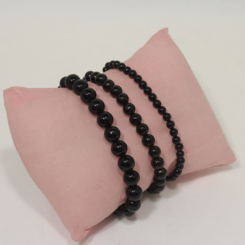 Tourmaline - Black Stretchy Bracelet