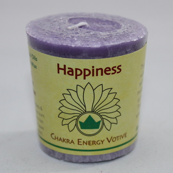 Happiness - Chakra Energy Candle - Votive 2oz