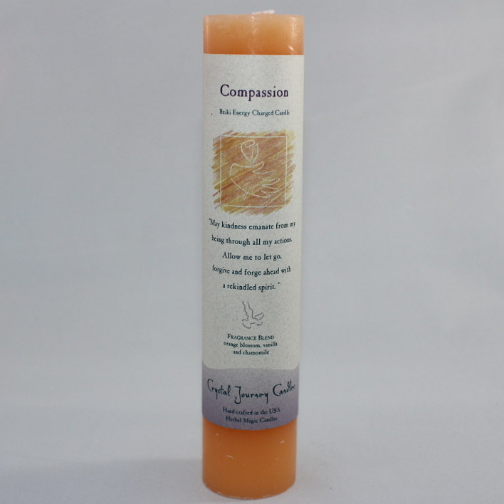 "Compassion - Herbal Magic Candle - Pillar 7"" Tall"