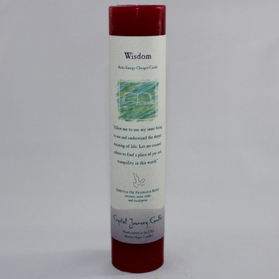 "Wisdom - Herbal Magic Candle - Pillar 7"" Tall"