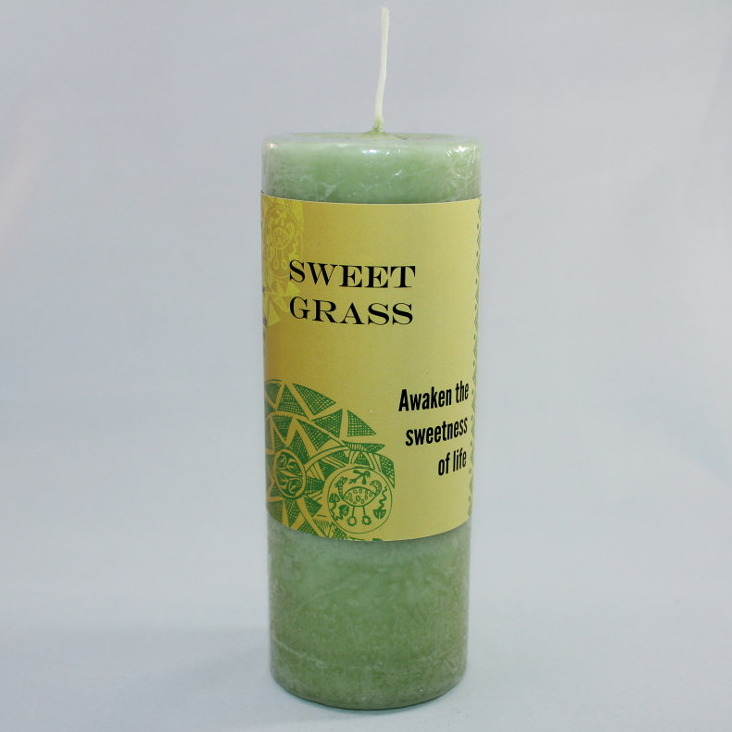"Sweet Grass World Magic Candle - Pillar 6.5"" Tall"
