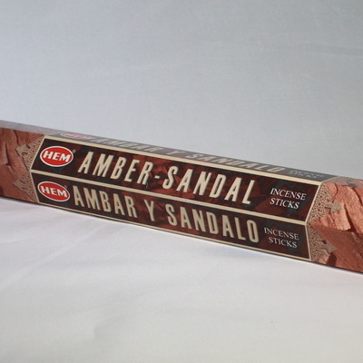 Amber Sandal Incense Sticks - HEM