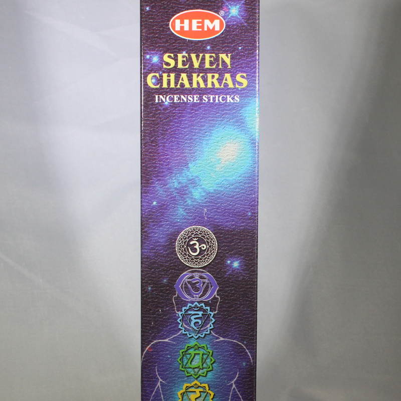 Seven (7) Chakra Incense Sticks - SAC