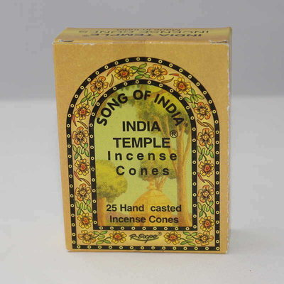India Temple Incense Cones - Song of India