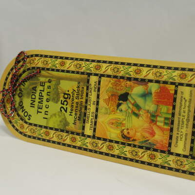 India Temple Incense Sticks - 25g