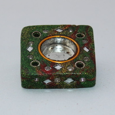 Glittery Indian Incense Holder - Square